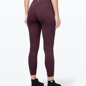 Lululemon Dark Purple Wunder Under Leggings